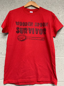 wooden spoon survivor shirt Red