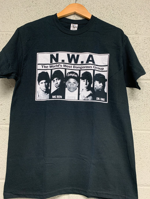 NWA Men Black T shirt