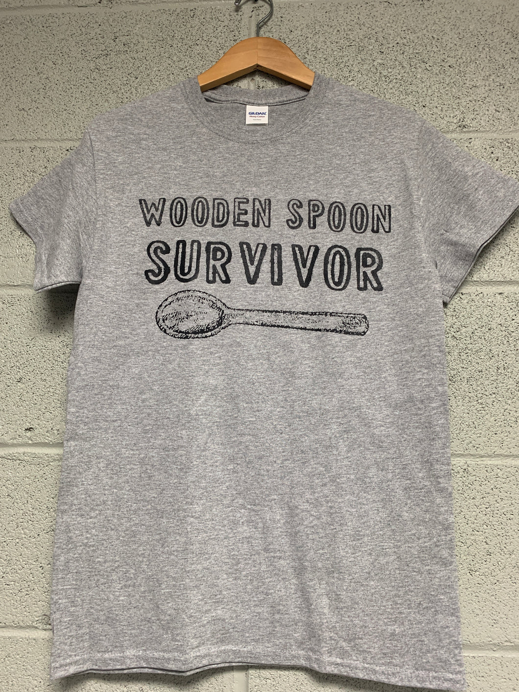 wooden spoon survivor shirt Heather Grey