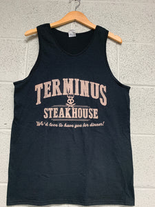 Terminus Steak House walking Dead Men Tank top black