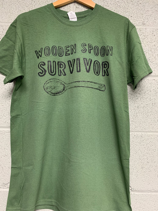 wooden spoon survivor shirt Military Green