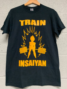 Train Insaiyan Dragon ball Men black t shirt