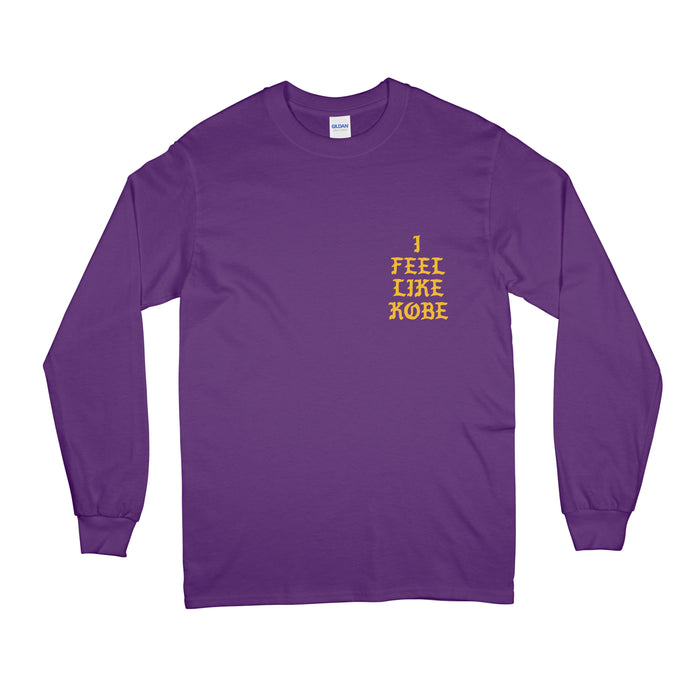 I Feel Like KOBE BRYANT LOS ANGELES MAMBA OUT Long Sleeve Unisex Shirt Purple