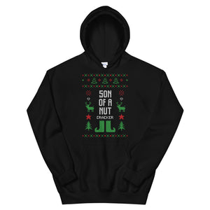 Son Of A Nut Cracker Transparent For Christmas Ugly Sweater Design Unisex Hoodie