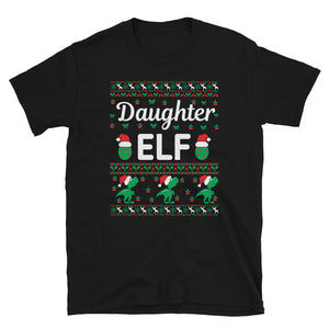Daughter Elf Christmas Ugly Sweater Party Short-Sleeve Unisex T-Shirt