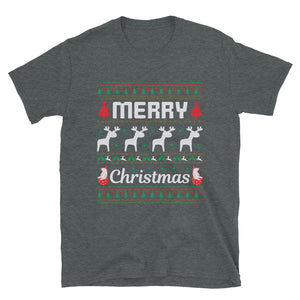 Merry Christmas Holiday Designs Ugly Christmas Sweater Party Short-Sleeve Unisex T-Shirt