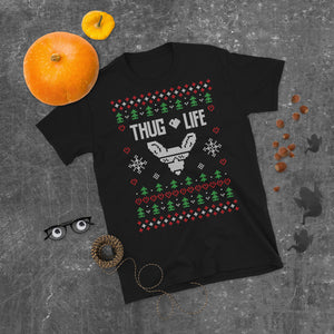 Thug Life Transparent For Christmas Ugly Sweater Design Short-Sleeve Unisex T-Shirt