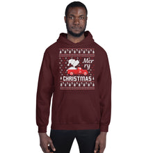 Merry Christmas Dinosaur PickUp Truck Ugly Sweater Party Unisex Hoodie
