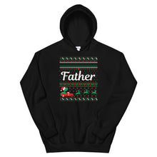 Father Christmas Ugly Sweater Party Unisex Hoodie