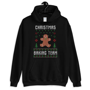 Christmas Baking Team Christmas Ugly Sweater Design Unisex Hoodie