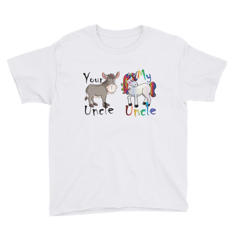 Your Uncle My Uncle Unicorn T-Shirt Youth Short Sleeve T-Shirt