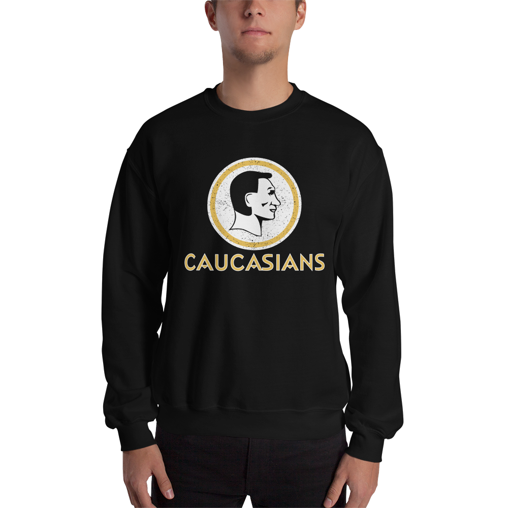 Washington Caucasians Redskins Funny Men's Sweatshirt