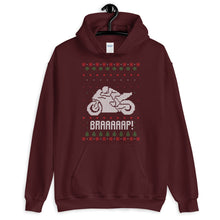 Brap Motogp Christmas Ugly Sweater Design Unisex Hoodie