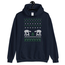 AT AT Robot  Ugly Sweater Design Unisex Hoodie