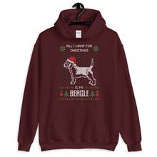 All I Want For Christmas Is My Beagle Unisex Hoodie