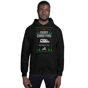 Merry Christmas Shitter_s Full Transparent For Christmas Ugly Sweater Design Unisex Hoodie