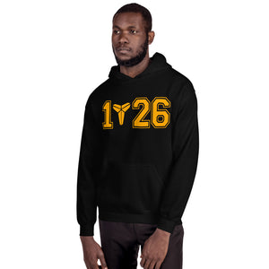 Mamba Out Kobe Bryant Gold Logo Black Hoodie