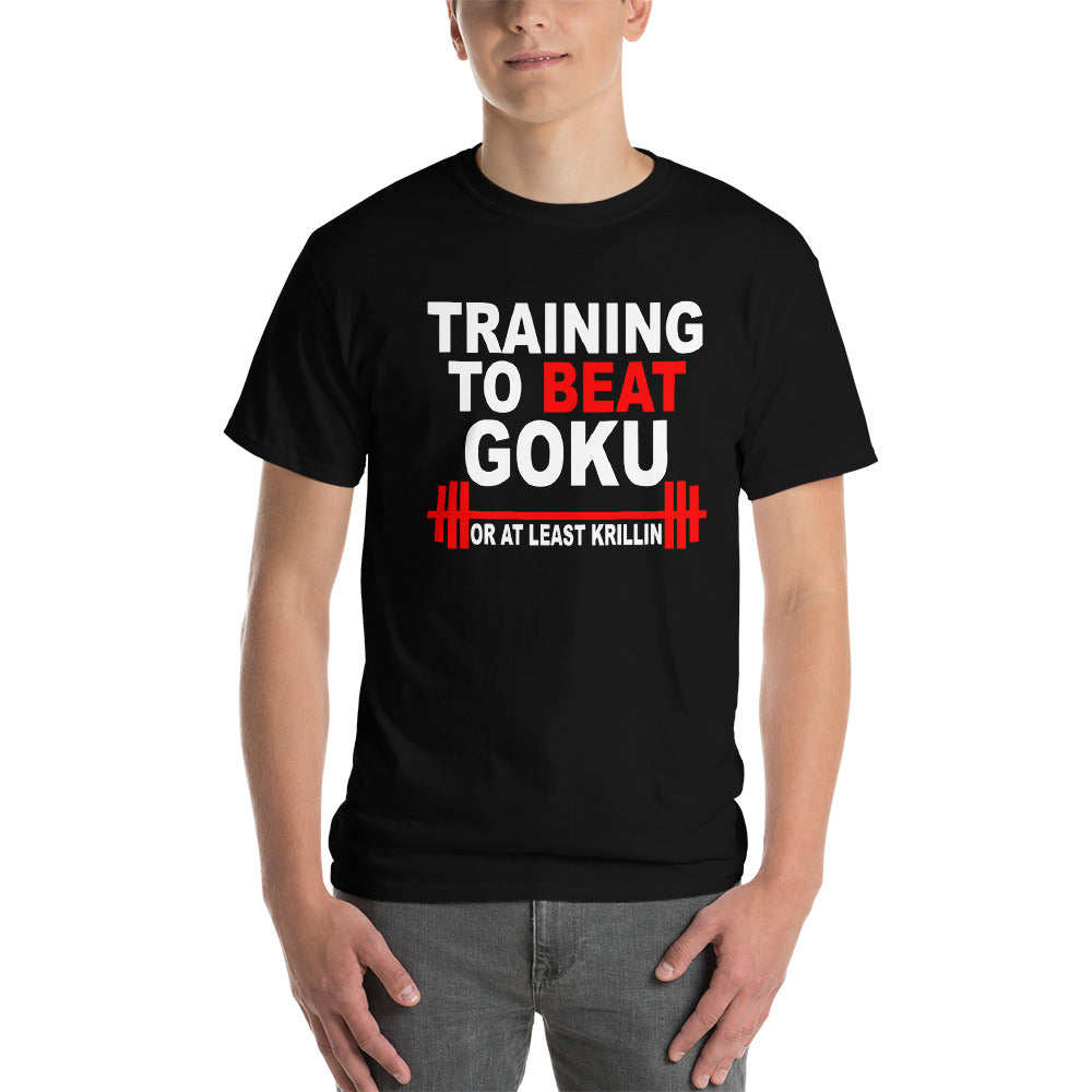 train to beat goku or at least krillin T shirt