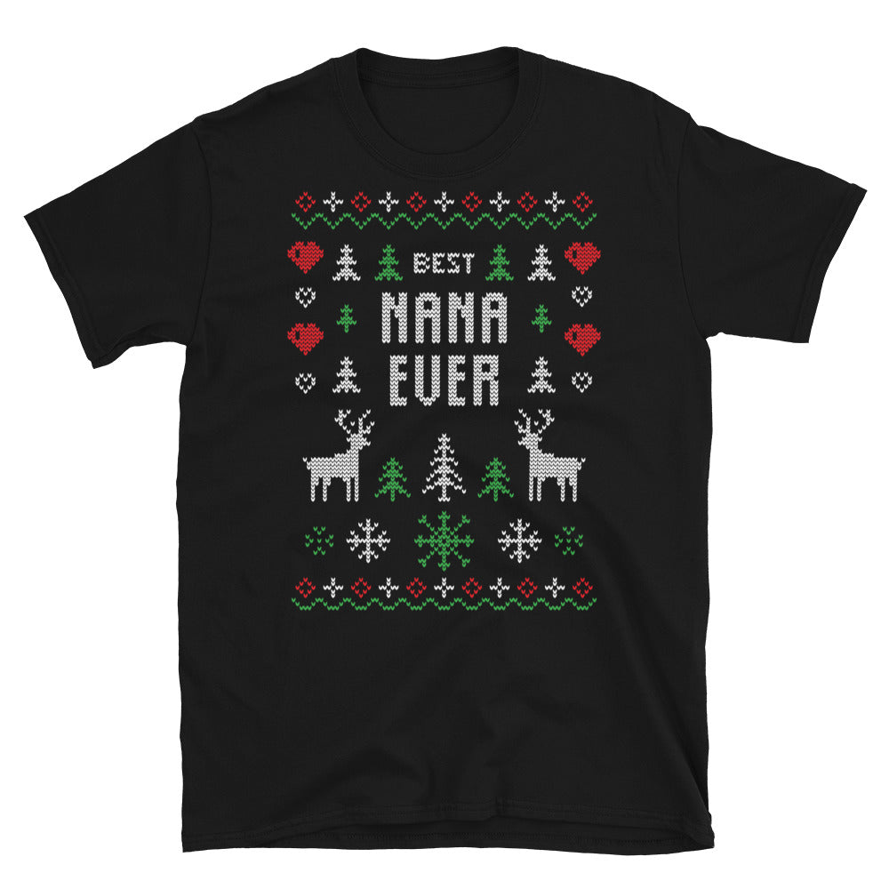 Best nana ever Ugly Sweater Design Short-Sleeve Unisex T-Shirt