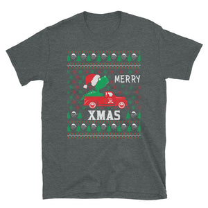 Merry X-mas Dinosaur Ugly Christmas Sweater Party Short-Sleeve Unisex T-Shirt