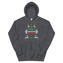 Merry Liftmas Transparent For Christmas Ugly Sweater Design Unisex Hoodie