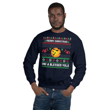 Merry Christmas And A Blessed Yule Ugly Sweater Party Unisex Sweatshirt