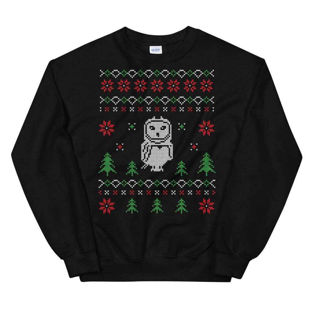 Owl For Christmas Ugly Sweater Design Unisex Sweatshirt
