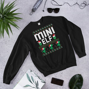 Mini Elf Christmas Ugly Sweater Party Unisex Sweatshirt