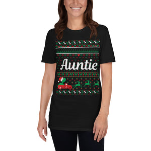 Auntie Christmas Ugly Sweater Party Short-Sleeve Unisex T-Shirt