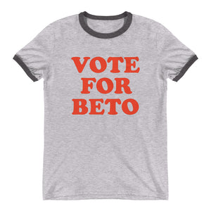 Vote for Beto O'Rourke Ringer Men's White T-Shirt