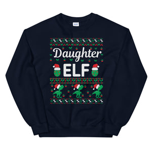 Daughter Elf Christmas Ugly Sweater Party Unisex Sweatshirt