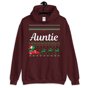 Auntie Christmas Ugly Sweater Party Unisex Hoodie