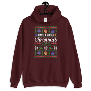 Have A Curly Christmas Ugly Sweater Party Unisex Hoodie