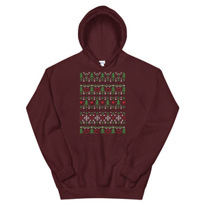 Ornament Transparent For Christmas Ugly Sweater Design Unisex Hoodie