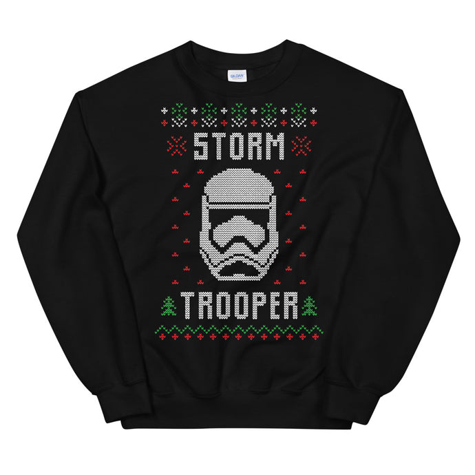 Stormtrooper Helmet Transparent For Christmas Ugly Sweater Design Unisex Sweatshirt