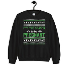 Its The Season To Be Pregnant Ugly Sweater Party Unisex Sweatshirt