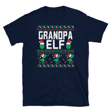 Grandpa Elf Christmas Ugly Sweater Party Short-Sleeve Unisex T-Shirt