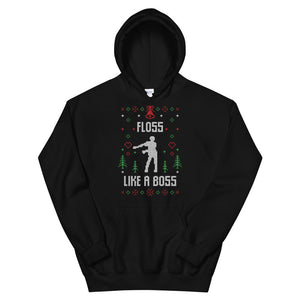 Floss Like A Boss Christmas Ugly Sweater Design Unisex Hoodie