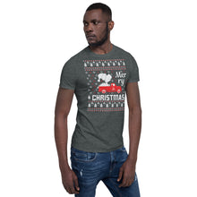 Merry Christmas Dinosaur PickUp Truck Ugly Sweater Party Short-Sleeve Unisex T-Shirt