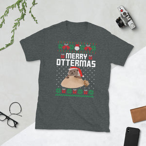 Merry Ottermas Otter Ugly Sweater Party Short-Sleeve Unisex T-Shirt