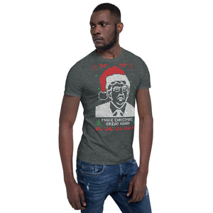 Make Chritsmas Great Again Transparent For Christmas Ugly Sweater Design Short-Sleeve Unisex T-Shirt