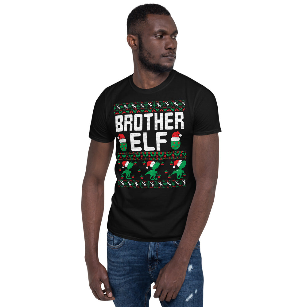 Brother Elf Christmas Ugly Sweater Party Short-Sleeve Unisex T-Shirt