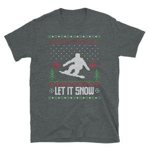 Let it Snow Christmas Ugly Sweater Design Short-Sleeve Unisex T-Shirt