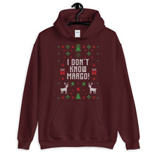 I Don't Know Margo! Christmas Ugly Sweater Design Unisex Hoodie