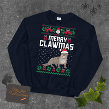 Merry Clawmas Ugly Sweater Party Unisex Sweatshirt