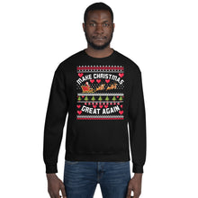 Make Christmas Great Again Ugly Sweater Party Unisex Sweatshirt