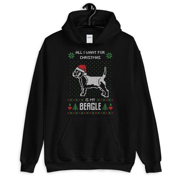 All I Want For Christmas Is My Corgie Christmas Ugly Sweater Design Unisex Hoodie