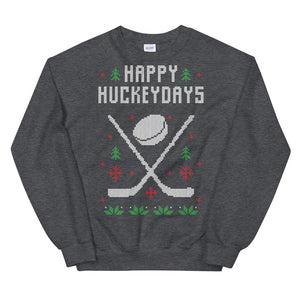 Happy Hockeydays Christmas Ugly Sweater Design Unisex Sweatshirt