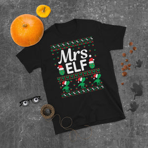 Mrs. Elf Christmas Ugly Sweater Party Short-Sleeve Unisex T-Shirt
