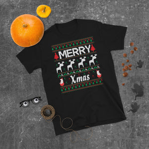 Merry Xmas Holiday Ugly Sweater Party Short-Sleeve Unisex T-Shirt